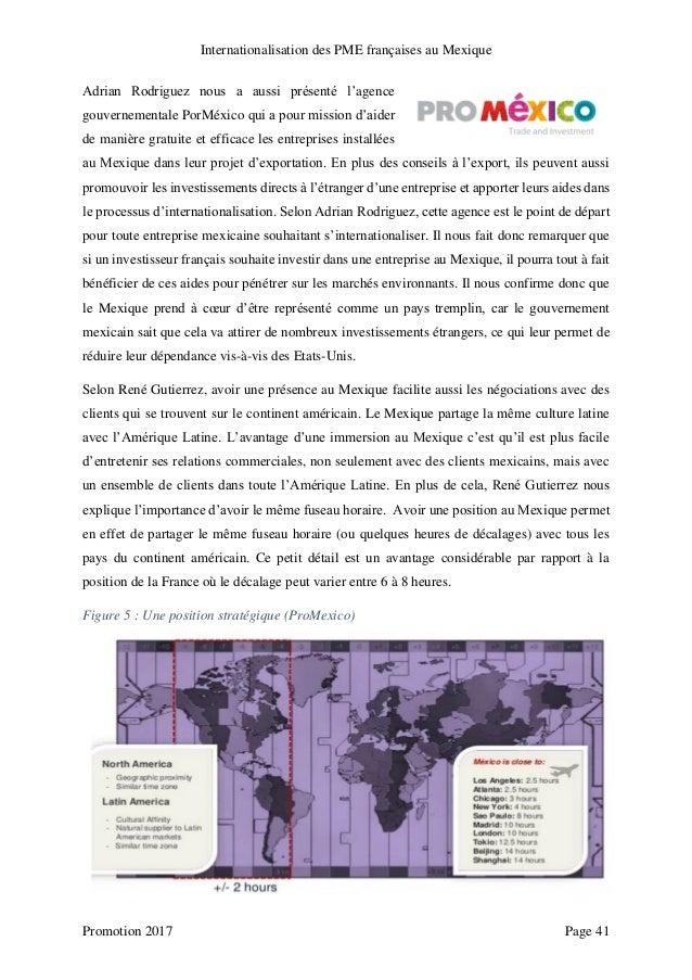 Internationalisation des pme fran aises au mexique - Chambre de commerce franco mexicaine ...