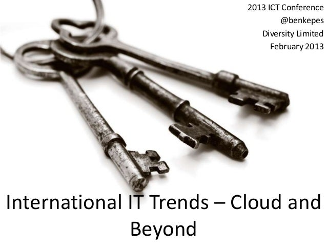 2013 ICT Conference                                                               @benkepes                               ...