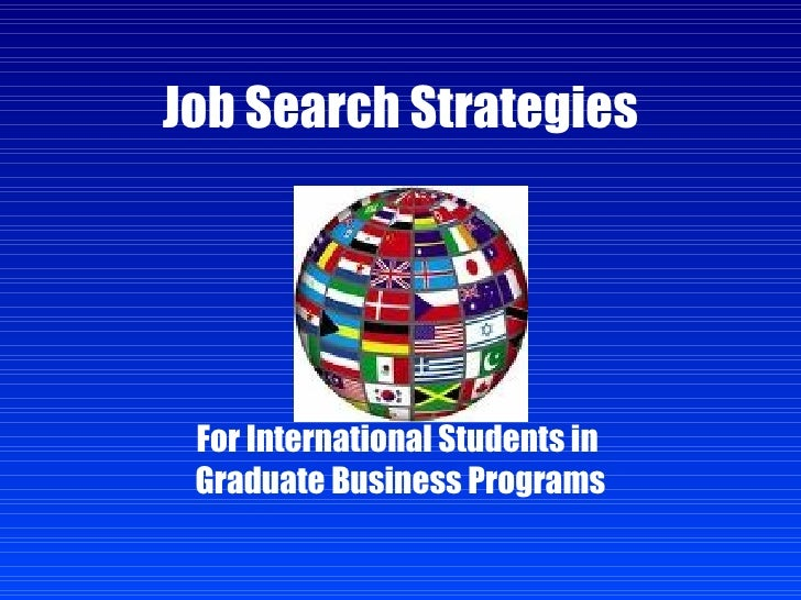 how to search for international jobs
