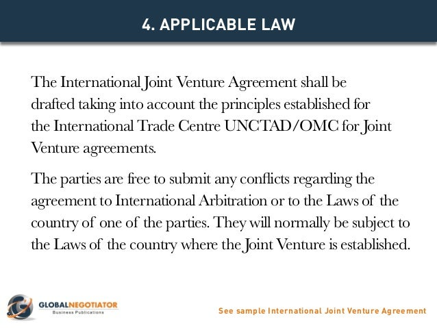 INTERNATIONAL JOINT VENTURE AGREEMENT TEMPLATE – Joint Venture Agreement