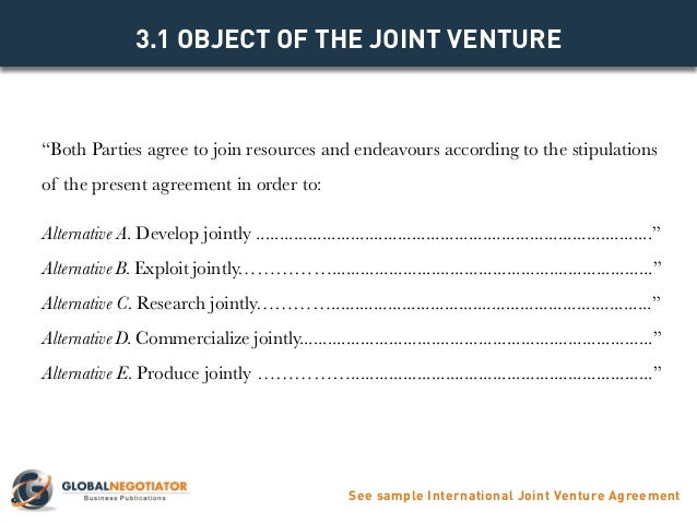 INTERNATIONAL JOINT VENTURE AGREEMENT TEMPLATE – Joint Venture Agreement Sample Word Format