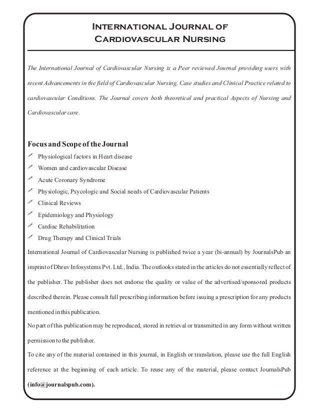 Introduction to Cardiovascular Nursing