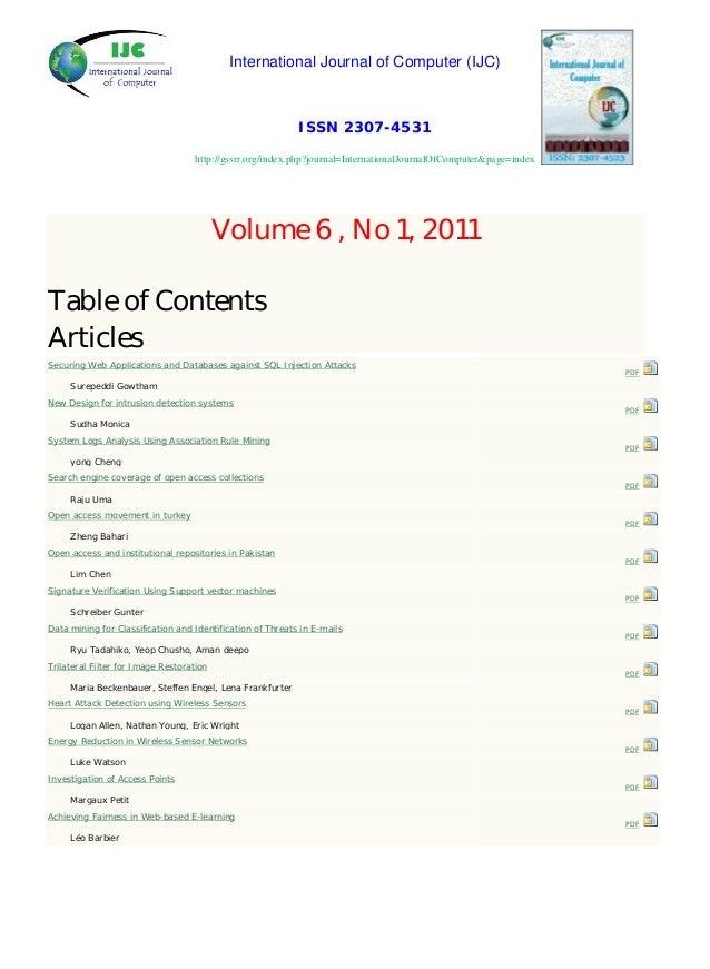 International Journal of Computer (IJC) ISSN 2307-4531 http://gssrr.org/index.php?journal=InternationalJournalOfComputer&p...