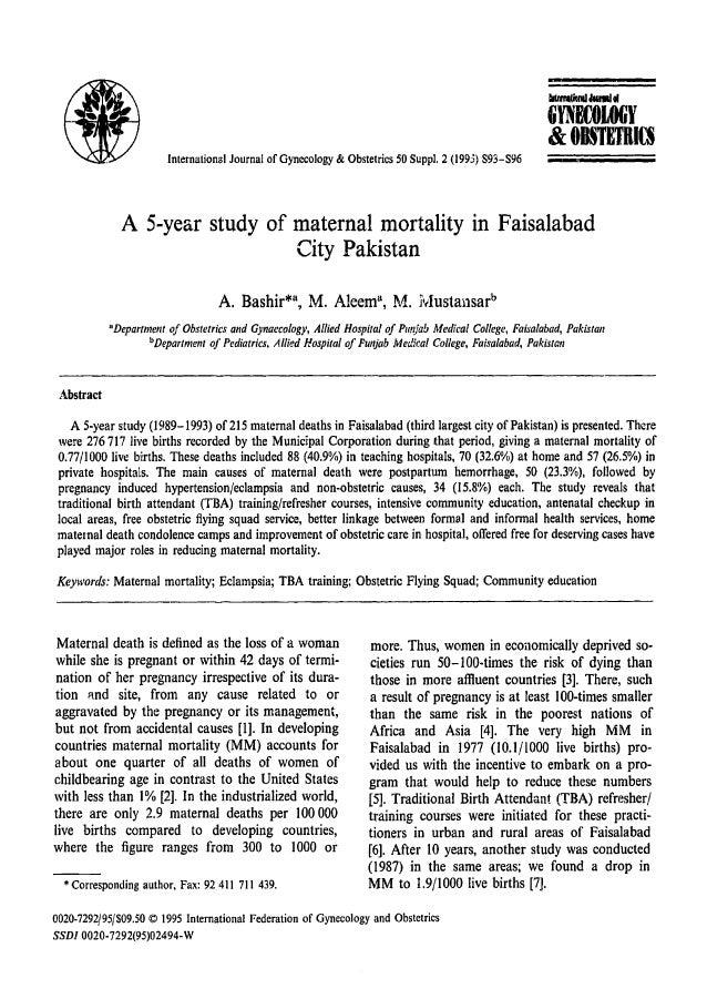 .IIIItrnI(iQIIIIMMI..  G 'fNDLOGY &OBSTETRI£S International Journal of Gynecology & Obstetrics 50 Suppl, 2 (1995) S93-596 ...