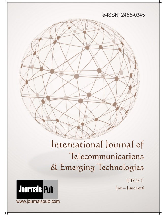 International Journal Of Telecommunications Emerging Technologies V
