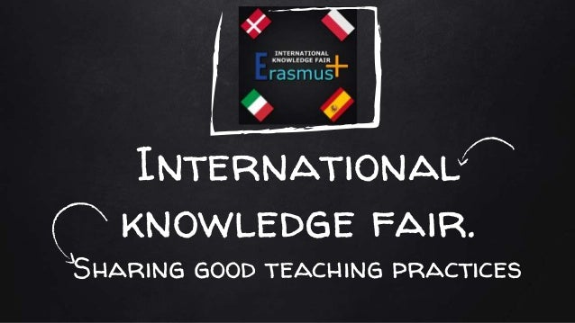 International knowledge fair. Sharing good teaching practices