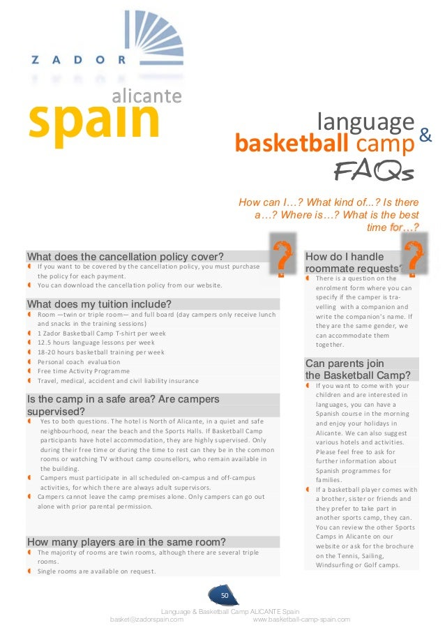 International Basketball Camp Spain