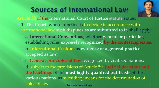 statute involving the global court of the legal 1945 post 38
