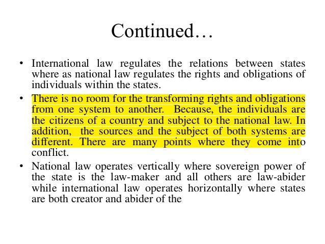 international law and municipal relationship quotes