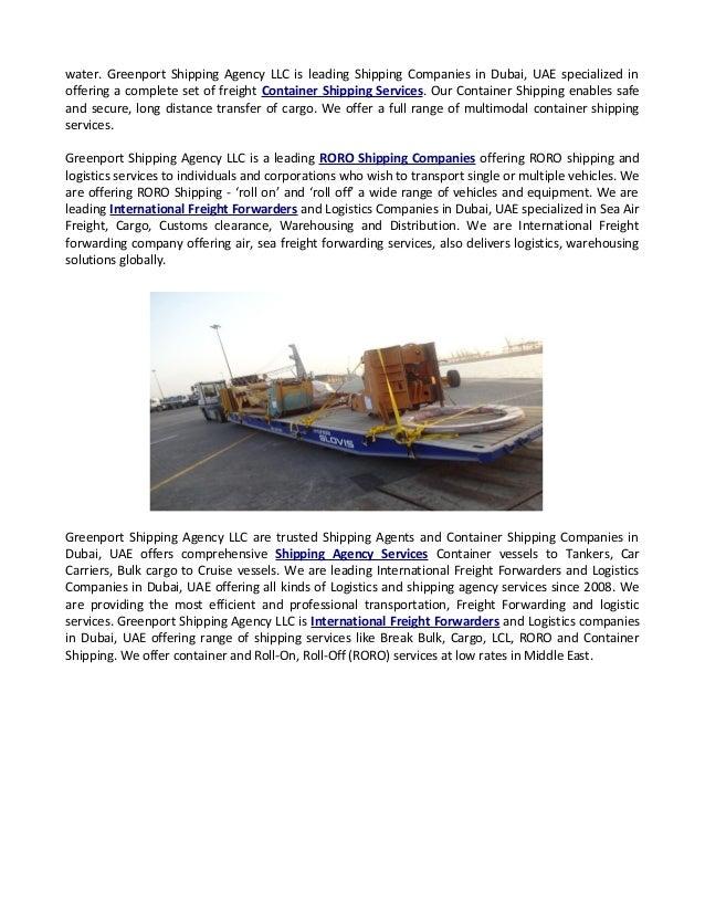 International Logistics Companies in Dubai