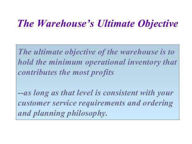 warehouse objectives - Vatoz.atozdevelopment.co