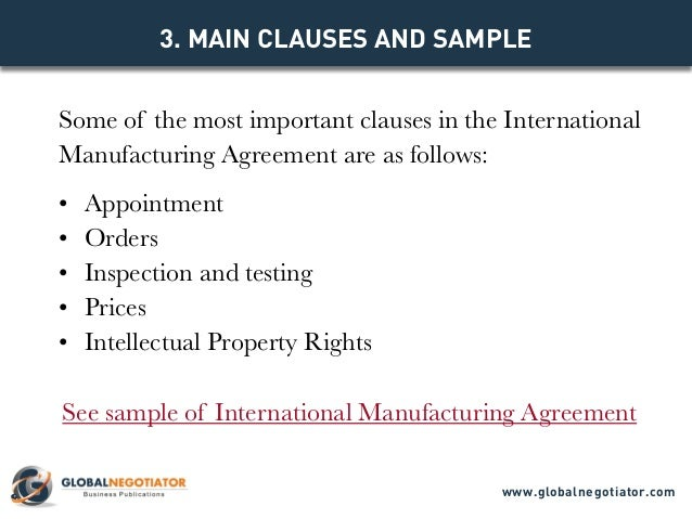 manufacturers rep agreement template - international manufacturing agreement template
