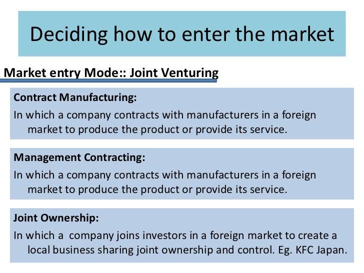 how to enter an international market
