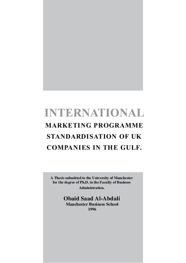 phd thesis in international marketing Diversity in new york essay phd thesis in international marketing typical structure of a phd thesis buying behaviour research paper.