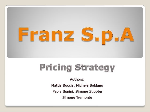 Franz S.p.A  First order of business to pursue a profitability aim in order to cover a high break even point due to the h...