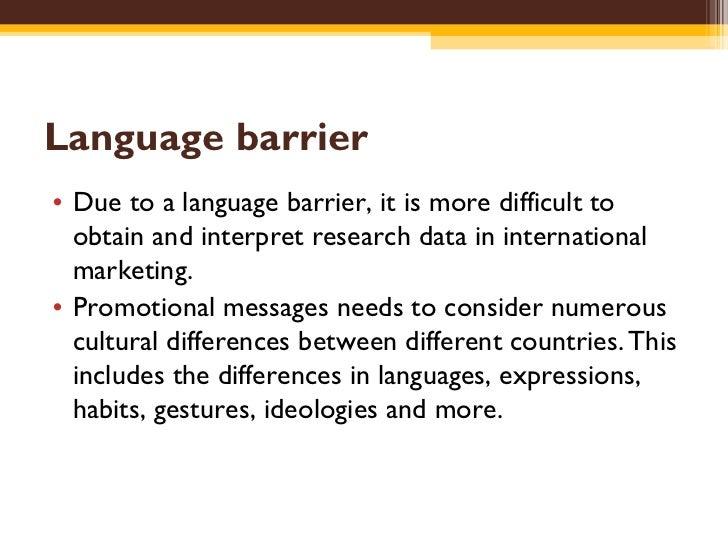 Effect language international marketing