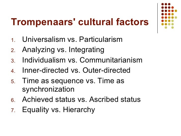 ascribed vs achieved status Some cultures confer status based upon what you personally have achieved, whether at work, sports, financially, or socially other cultures ascribe status.