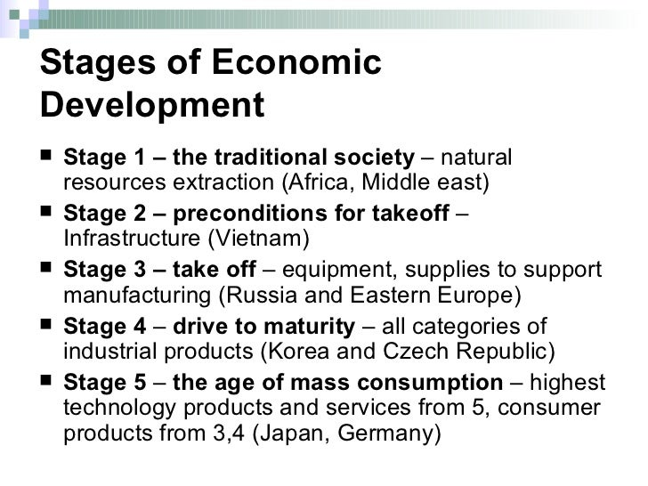 stages of development in international relations Development theory: that defined development as a sequence of stages through trade and international market relations occur in a framework of.