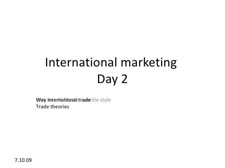 International marketing                        Day 2           Way to edit Master subtitle style           Click internati...