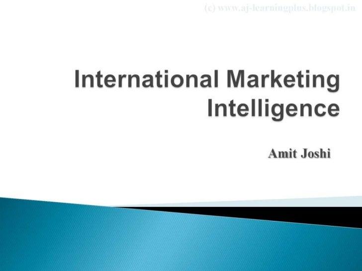 International marketing intelligence