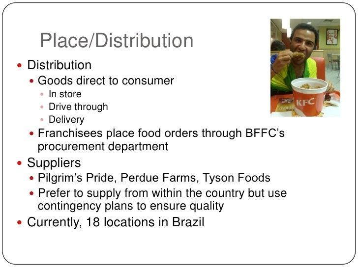 kfc distribution strategy