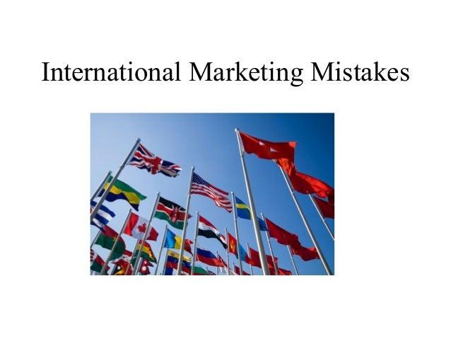 International Marketing Mistakes