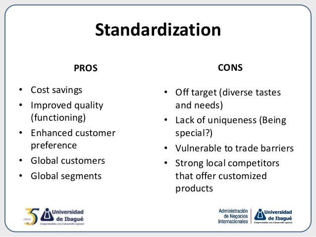 the importance of standardization in international marketing Global brands standardize their marketing strategy and mix, this generates  important cost  important international brand equity also allows these brands to .