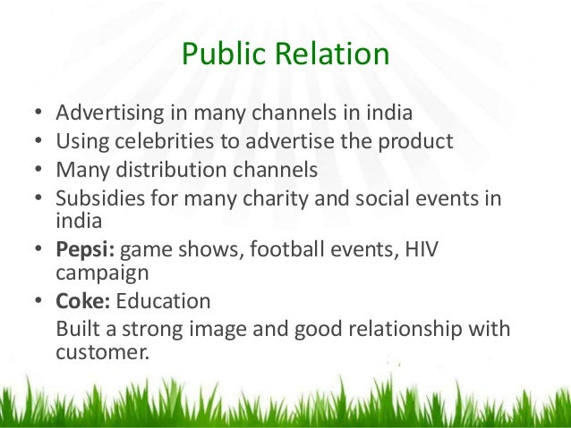 the marketing strategies used by coke and pepsi to compete in india Authored by lucius lu and sophia tiwana according to official statistics, an amazing 19 billion products of coca-cola are sold around the world everyday.