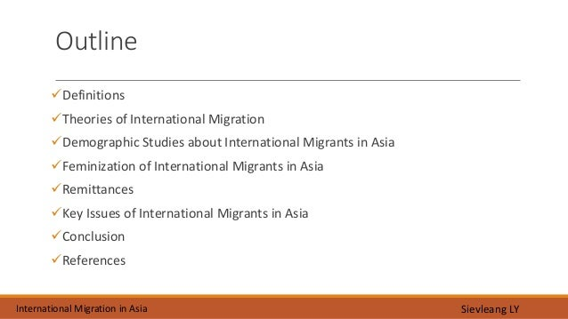 an analysis of international migration theories Paper surveys the economic analysis of immigration although the discussion focuses on tile economic analysis of international migration, many of the models and economic theory implies that immigrants will.