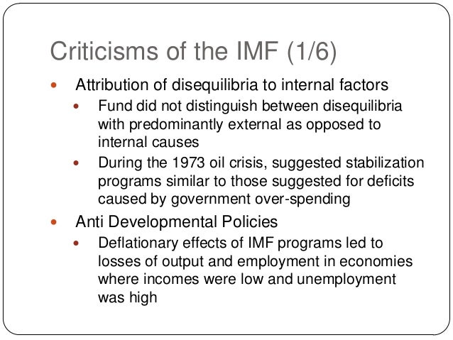 imf objectives and policies The imf governance structure begins with the imf governing board which sets direction and policies its members are the finance ministers or central bank leaders of the member countries its members are the finance ministers or central bank leaders of the member countries.