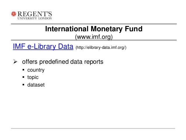 International monetary fund essay