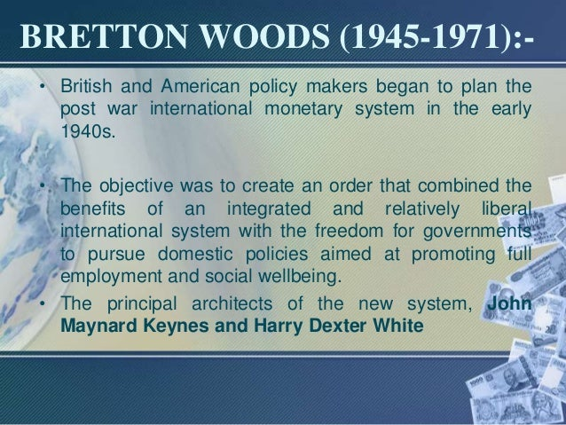 An essay on the revived bretton woods system
