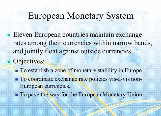 objectives of international monetary system