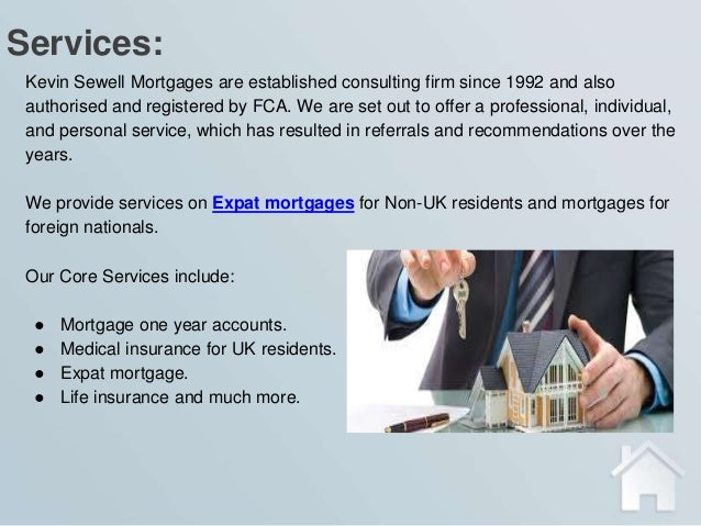 International mortgage consulting services