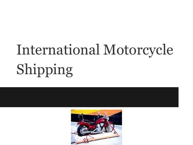 International MotorcycleShipping