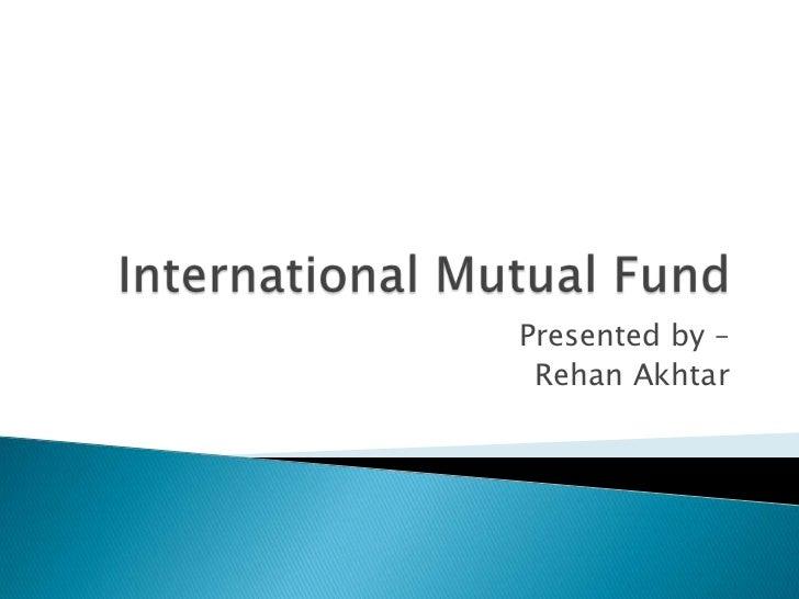 Presented by – Rehan Akhtar