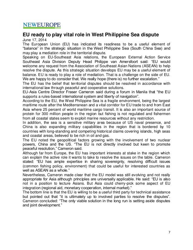 reasons for the spratly island disputes essay Why is china building islands in the south china sea  south china sea disputes  revealed: china's reasons for island-building in the south china sea.