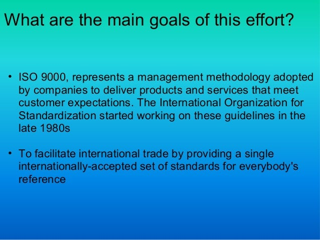 international organization for standardization Ii a brief history of iso standards are important in international trade because incongruent standards can be barriers to trade, giving some organizations advantages.
