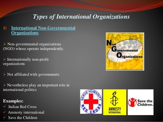 The role of the international governmental organizations igos and the un