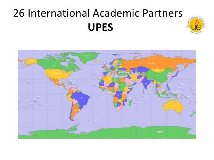 26 International Academic Partners               UPES