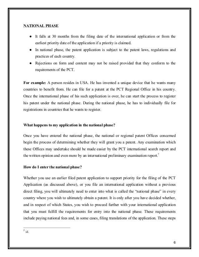 International Patent Application Pct Route