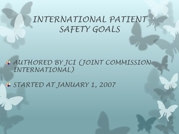 International patient safety rems lecture Slide 3