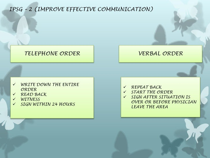 how to write a verbal order
