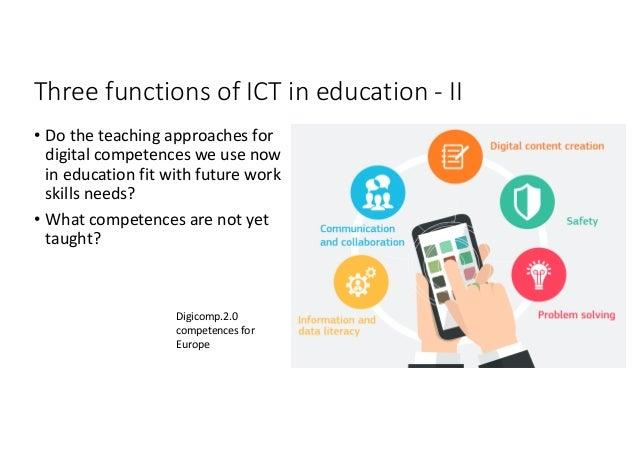 ThreefunctionsofICTineducationIII • ICTassocio-technicallycreated mediumofservices suchas networksofexpert...