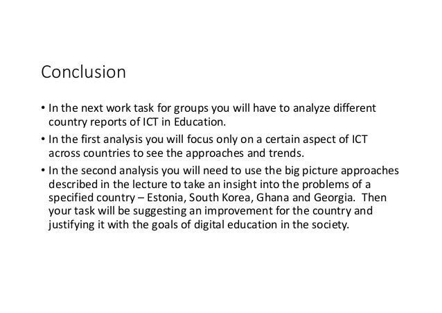 International perspectives: ICT in education