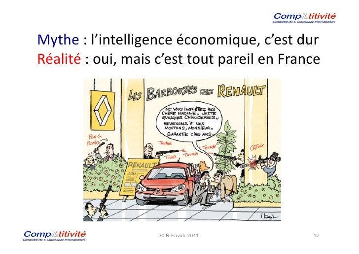 Mythe : l'intelligence économique, c'est dur  Réalité : oui, mais c'est tout pareil en Franc...
