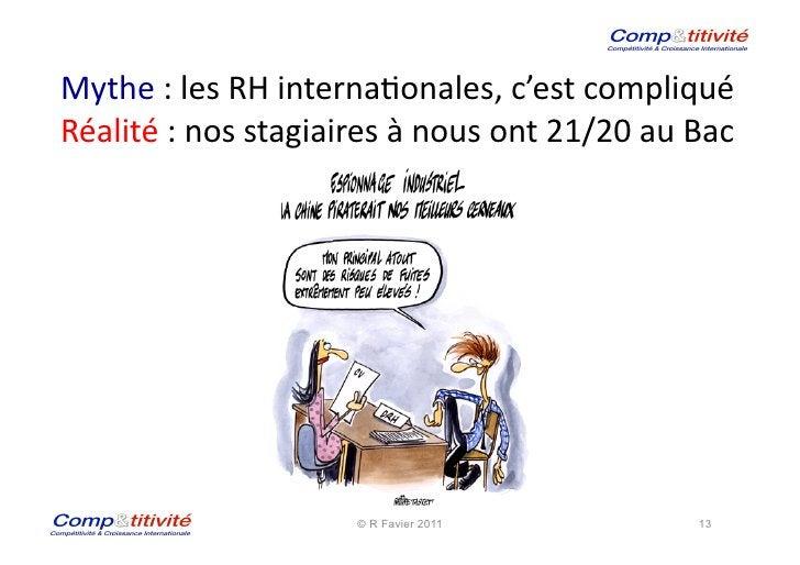 Mythe : les RH interna(onales, c'est compliqué Réalité : nos stagiaires à nous ont 21/20 au...