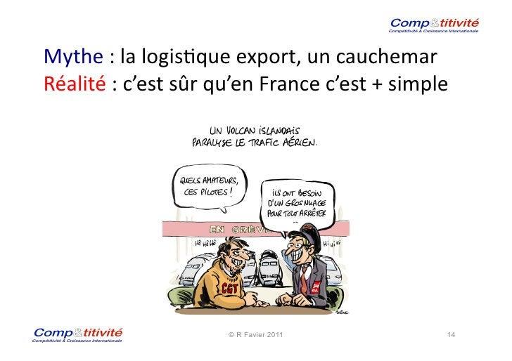 Mythe : la logis(que export, un cauchemar  Réalité : c'est sûr qu'en France c'est + simple...