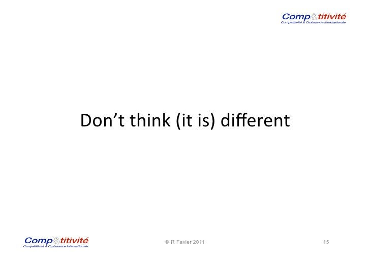 Don't think (it is) different                                                         © R Favier 2011            ...