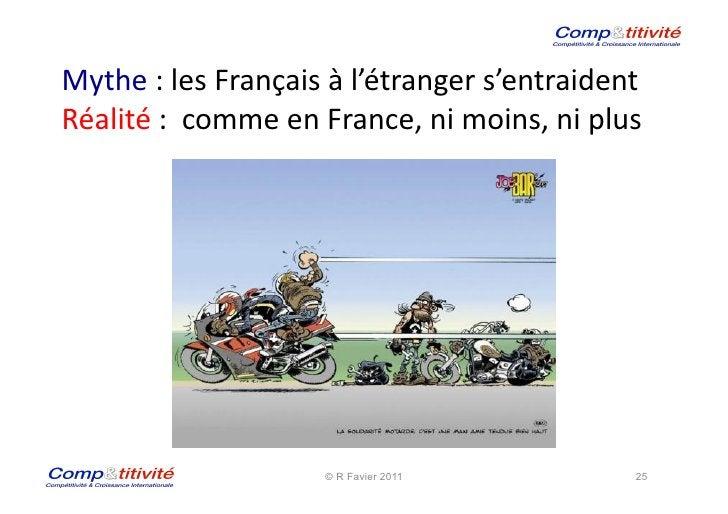 Mythe : les Français à l'étranger s'entraident  Réalité :  comme en France, ni moins, ni ...